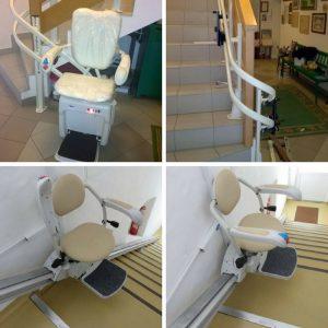 Stopniščni stoli stopniščni vzpenjalnik Duolift